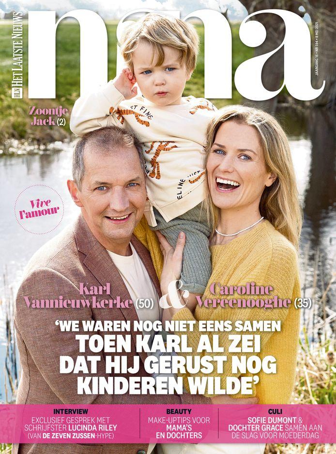 Cover Nina 08/05 - Karl Vannieuwkerke, Caroline Vereenooghe en zoontje Jack