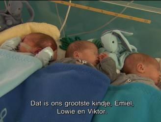 Uniek: Vlaamse bevalt van eeneiige drieling