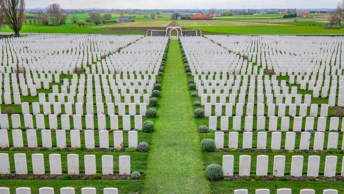 Tyne Cot Cemetry is de belangrijkste WO I-begraafplaats op het Europese vasteland.
