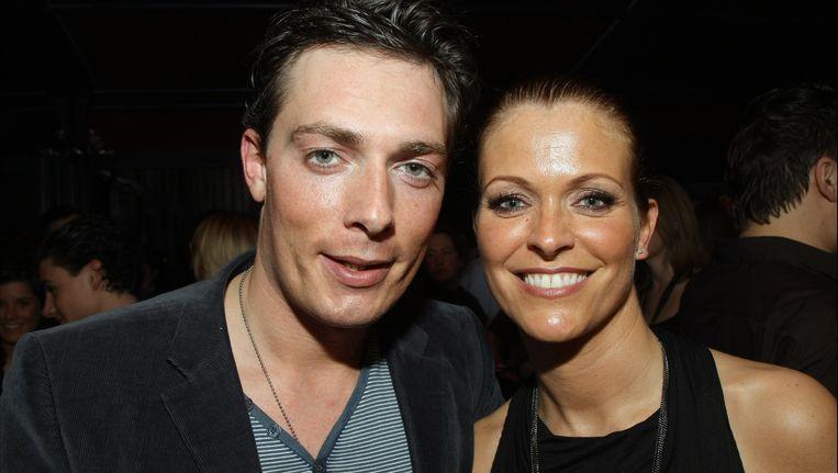 Antony Van Der Wee met partner Karen Damen.