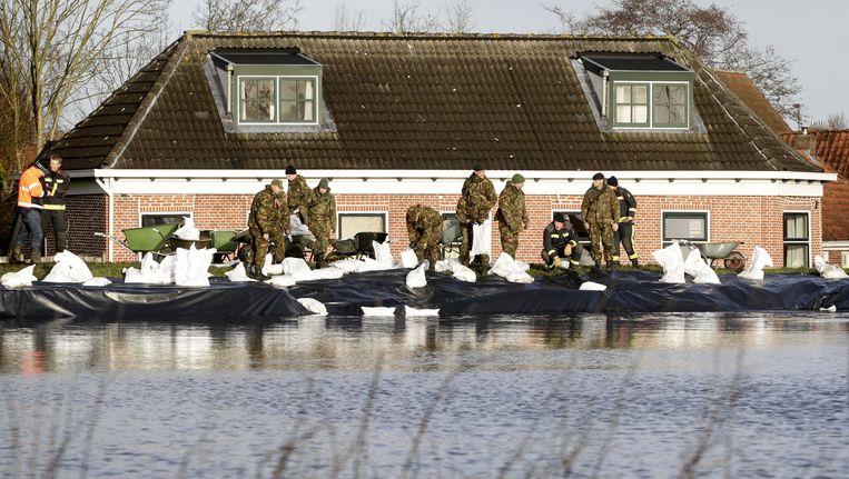 Dijkbescherming in Groningen. Beeld ANP
