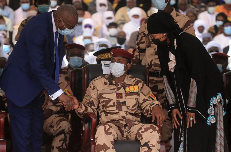 De 37-jarige Mahamat Déby staat sinds het overlijden van zijn vader aan het hoofd van de Tsjadische junta. Beeld Photo News