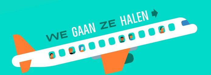 Logo van de actiegroep We Gaan Ze Halen.