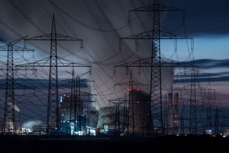 Een kolencentrale in Duitsland die, net als in Polen, terug zal moeten schalen om de klimaatdoelen te halen.  Beeld Getty Images