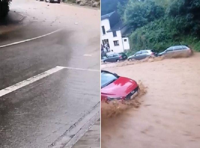 Wat begint als een kleine modderstroom eindigt in een woeste rivier.