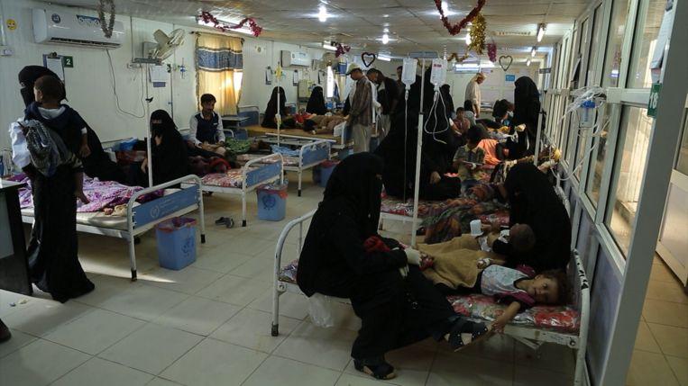 Afdeling pediatrie in het Hodeida-ziekenhuis Beeld Mahmoud Elsobky