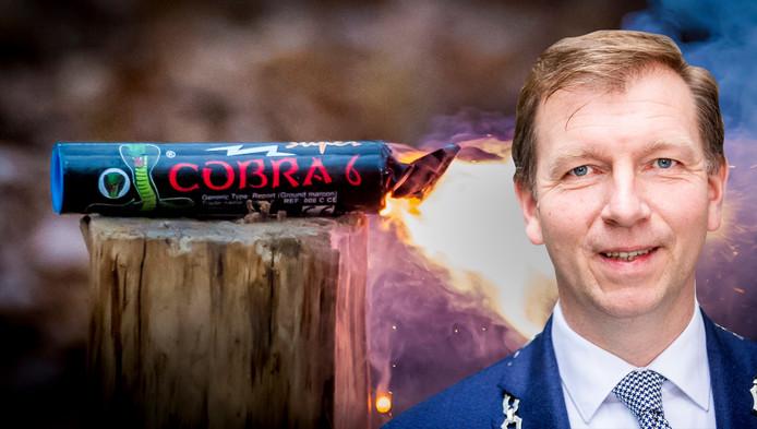 Burgemeester Gert-Jan Kats van Veenendaal is klaar met de vuurwerkoverlast en de schade die het voor gemeenten oplevert.