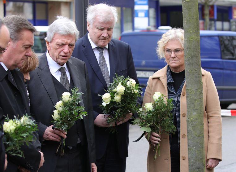 Horst Seehofer (tweede van rechts). Beeld EPA