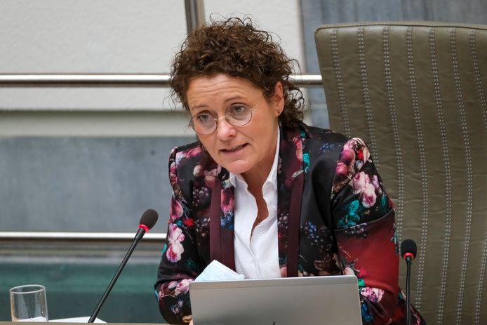 Minister van Mobiliteit Lydia Peeters (Open Vld)