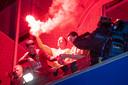 Camvbuur-speler Maarten Pouwels in extase na de officieuze promotie naar de eredivisie.