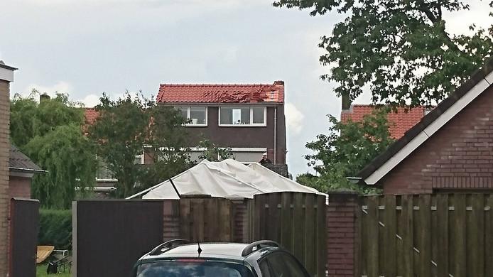 Schade aan de daken in Veldhoven