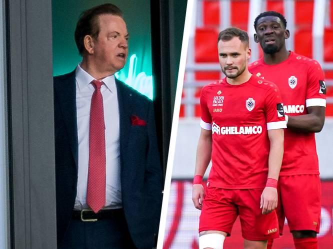 """Antwerp-eigenaar Paul Gheysens maakt zich zorgen, net als zijn spelers: """"Dat defensief voetbal is volledig verkeerd"""""""