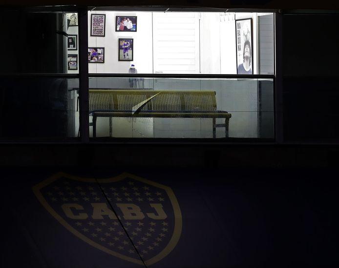 De box van Maradona in La Bombonera.