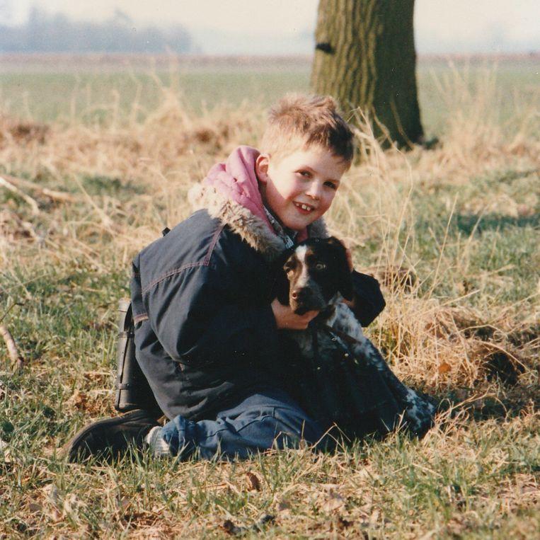Jan Mulders met zijn megastoere jas. Beeld Privéfoto