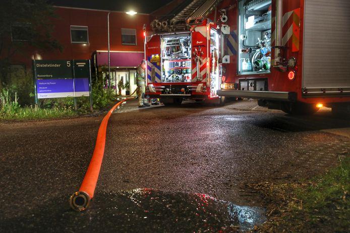 De brand in de Willem Arntsz Hoeve was snel onder controle.