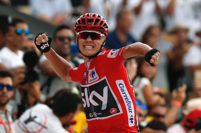 Chris Froome in de Vuelta. Beeld EPA