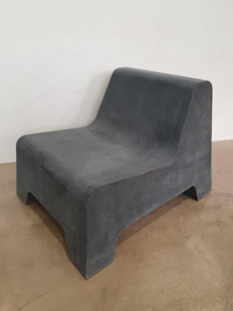 Schuimmeubel met een betonachtig oppervlak van Coolo. Beeld Coolo