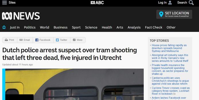 Website van ABC uit Australië.