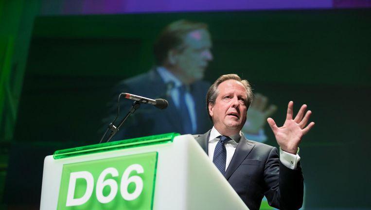 Alexander Pechtold bij het partijcongres van D66 Beeld null