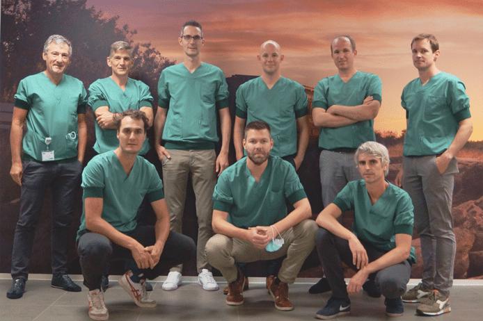 Het voltallige team van orthopedische chirurgen van Ziekenhuisnetwerk Kempen.