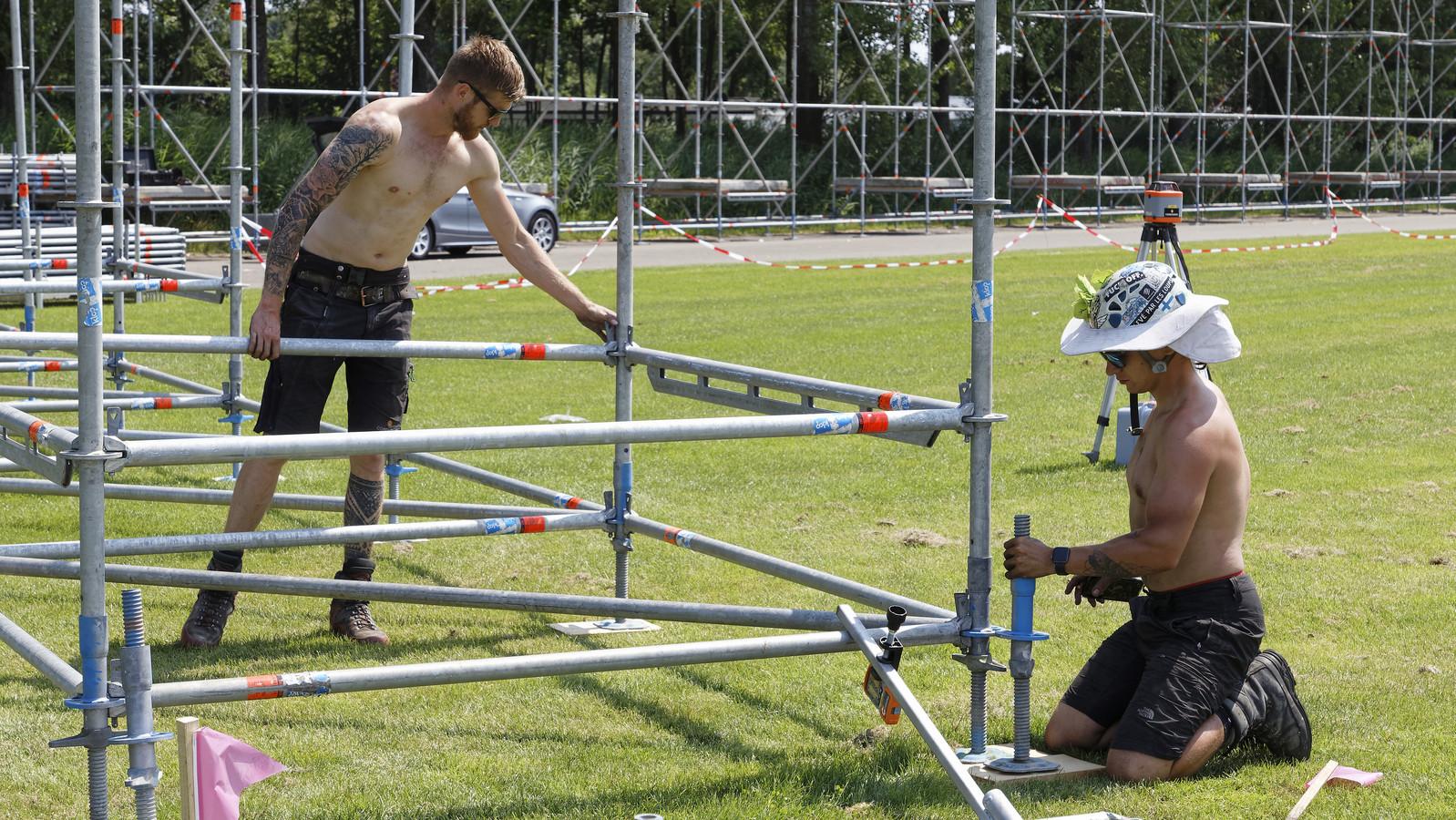De opbouw van Paaspop 2021 is deze week begonnen op het festivalterrein in Schijndel.