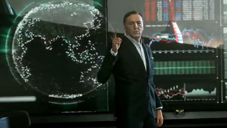 Activision gooit acteur Kevin Spacey in de strijd als slechterik met 'Call of Duty: Advanced Warfare'. Beeld YouTube/Call of Duty