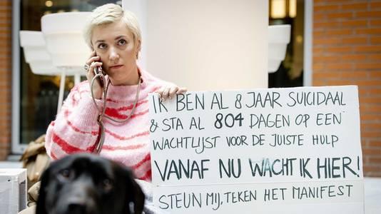 Bouwman wil met haar protest afdwingen dat er betere zorg in de GGZ komt