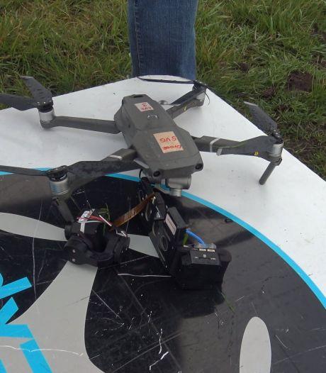 Vogelwerkgroep Geesteren in zak en as: drone met warmtecamera neergestort