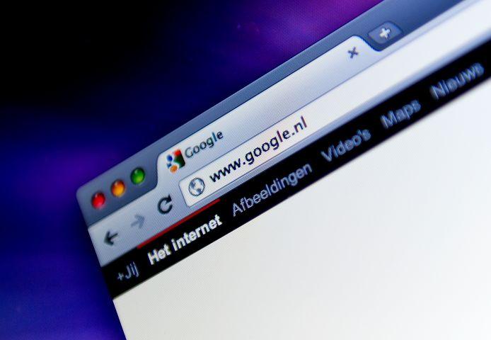 De Google Chrome-browser op een computer van Apple.