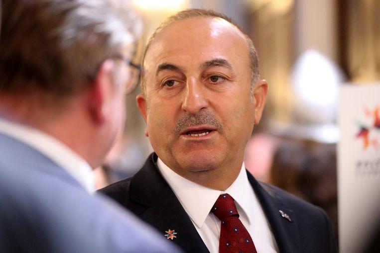 Turks minister van Buitenlandse Zaken Mevlüt Çavusoglu.  Beeld EPA