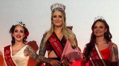 """West-Vlaamse is Miss Tattoo Belgium: """"Mijn manier om overleden oma te eren"""""""
