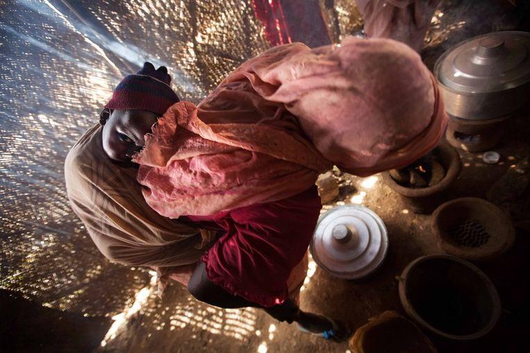 Het vluchtelingenkamp in Tawila, in het noorden van de regio Darfur. Beeld afp