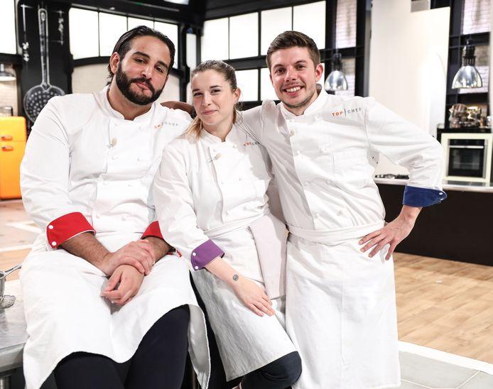"""Mohamed, Sarah et Matthias se sont affrontés lors des demi-finales très serrées de """"Top Chef""""."""