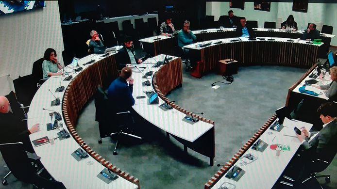 De commissievergadering van de gemeenteraad van Roosendaal afgelopen woensdag. Bij een commissievergadering praat van elke fractie één lid mee.
