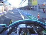 Hamilton rijdt monteur omver in pitstraat
