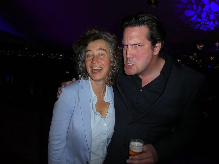 Marjolijn Bronkhuyzen (Eye): 'Het mooiste feest, in het mooiste gebouw.' Met, geen toeval, Philip Beckmann van Delugan Meissl, het architectenbureau van Eye Beeld Schuim