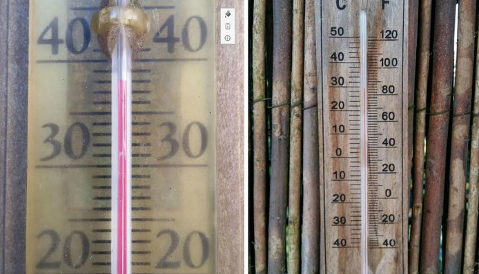 Foto thermometer