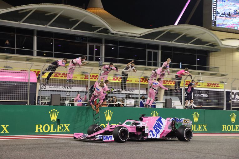 Het Racing Point F1 Team.  Beeld BSR Agency
