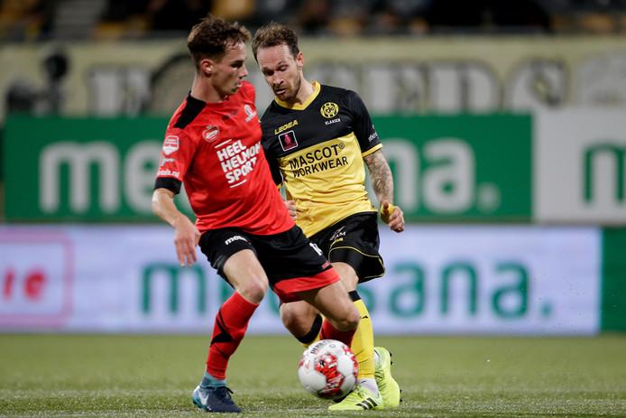 Helmond Sport in actie tegen Roda JC.
