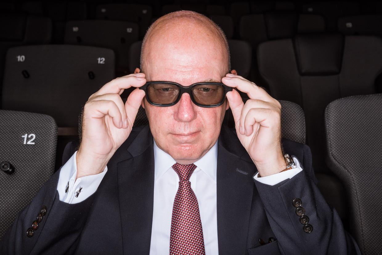 Eddy Duquenne: 'In mijn jeugd dacht ik dat Kinepolis een kopie was van een Amerikaanse cinemakathedraal, terwijl het 'the original' is.'  Beeld Wouter Maeckelberghe