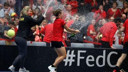 """Flipkens trots na zege in Fed Cup: """"In eigen land het beslissende punt kunnen binnenhalen, dat doet mij wel iets"""""""