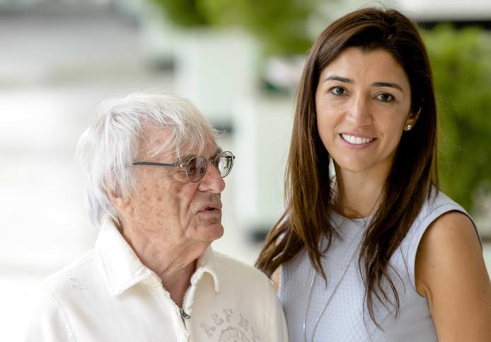 Bernie Ecclestone met zijn vrouw  Fabiana Flosi.