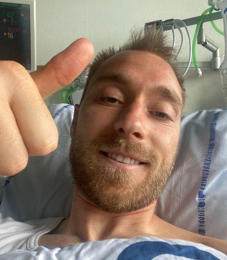 Eriksen laat vanuit ziekenhuis van zich horen: 'Ik voel me goed'
