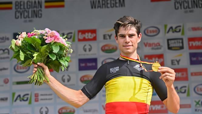 Van Aert zorgt voor unicum en is eerste renner die in hetzelfde jaar Belgisch kampioen op de weg en in het veld wordt