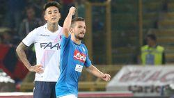 Dries Mertens opnieuw aan het kanon bij zege van Napoli tegen Bologna