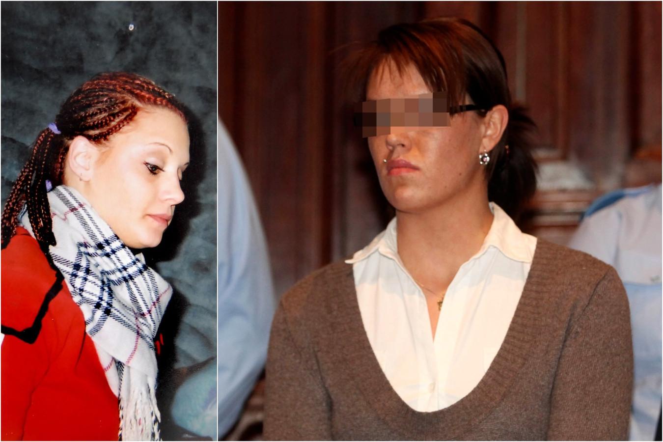 Priscilla Vervecken (links) werd op 15 juni 2007 vermoord door Carolien V.L.