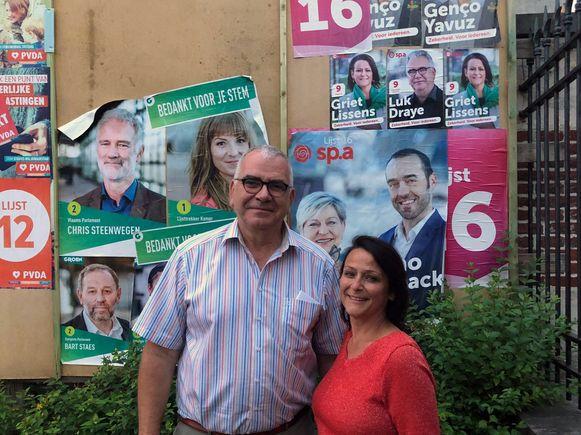 Sp.a-gemeenteraadsleden Griet Lissens en Luk Draye