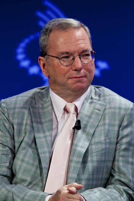 Eric Schmidt, président du conseil d'administration de Google