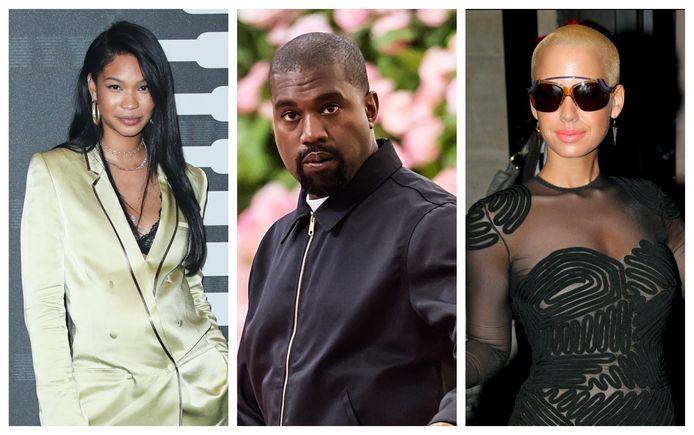 Kanye West had onder meer relaties met Chanel Iman (links) en Amber Rose (rechts)