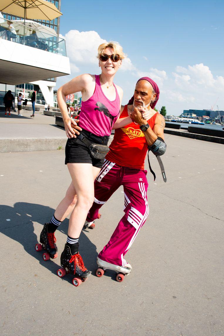 Puk Fenneman en Tony Lenehan van de Skate Heroes Dance School. Beeld Marjolein van Damme